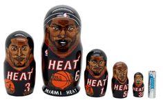 Matryoshka nesting doll Miami Heat 5 pc | ArtMatryoshka - Toys & Hobbies on ArtFire