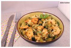 Pâtes aux courgettes, crevettes et épices, Recette Ptitchef Cooking Tips, Potato Salad, Cauliflower, Healthy Snacks, Snack Recipes, Vegetables, Ethnic Recipes, Food, Polenta