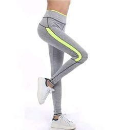 Women Fashion Lady Pink Leggingr Light Grey High Waist Leggins Fitness Workout Jogger