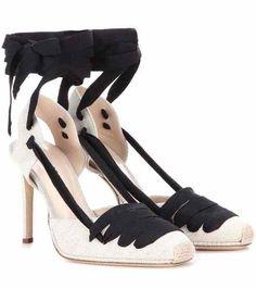 Espadrille D'Orsay fabric lace-up pumps | Altuzarra