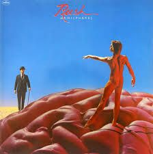 Rush Hemispheres album cover designed by Storm Thorgerson