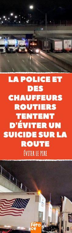 La coopération entre la police et les chauffeurs routiers a permis d'éviter une tragédie et de sauver la vie d'un homme.  #sauvetage #policier #policiers #pont #sauter #suicide #vivre #depression #desespoir