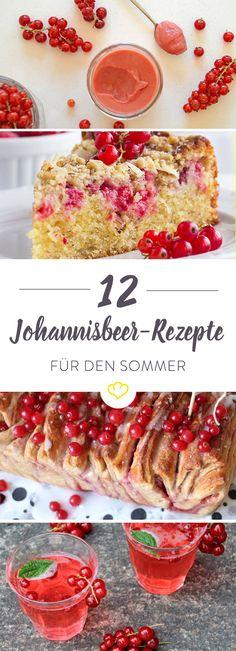 Rote Johannisbeeren haben jetzt Hochsaison! 12 Foodblogger verraten ihre besten Rezepte mit der kleinen Beere - von süß bis herzhaft ist alles dabei.