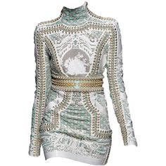 Balmain-editedbyelfemme ❤ liked on Polyvore featuring dresses, vestidos, short dresses, balmain, edits, mini dress and balmain dress