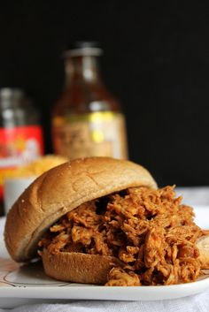 Barbecue Pulled Chicken Sandwiches