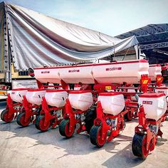 BEREKET Series Precise Planters are ready for Bulgarian Farmers... #turquagroforagriculture #azim #bereket #pneumatic #precise #planter #havalı #mibzer #ekim #makinesi #ziraat #tarım #agriculture #agronomia #seminatrice #red #white #farm #technology #machinery #farmer #farmlife