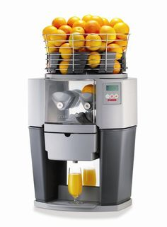 We definitely need one of these orange juice machines for our office ;)
