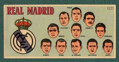 Real Madrid card in 1953.