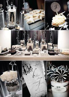 black, white and bling!