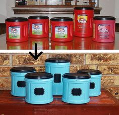 Fabulous Folger's Coffee Plastic Container Upcycle. I have so many of these containers!