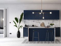 Navy Blue Kitchen a6bf5a58421733.59fb6ebdc5d6b.jpg (1240×930)