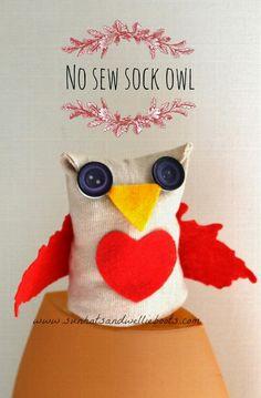 DIY Children's : DIY No Sew Sock Owls