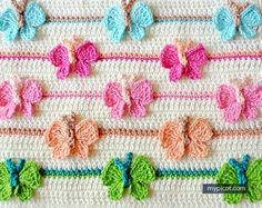 Learn A New Crochet Stitch: Butterfly Stitch free pattern via MyPicot.com
