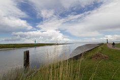 Hafeneinfahrt vom Hafen Fedderwardersiel, Butjadingen, Wesermarsch, Niedersachsen, Deutschland