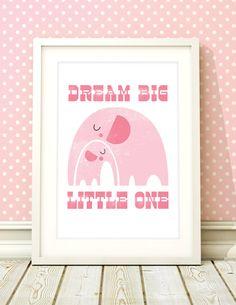 Nursery art girl, baby girls print, nursery print, elephant nursery art, girls bedroom, baby girl room, kids room, nursery decor, pink by BubbleGumYears on Etsy https://www.etsy.com/listing/184817526/nursery-art-girl-baby-girls-print