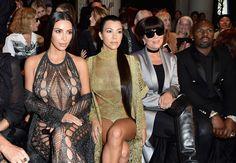 Kim Kardashian, Kourtney Kardashian, Kris Jenner and Corey Gamble attend the Balmain show as part of the Paris Fashion Week Womenswear  Spring/Summer 2017  on September 29, 2016 in Paris, France.