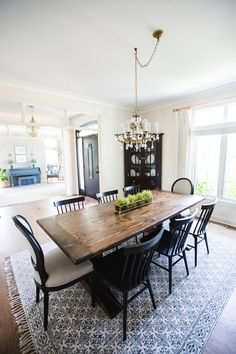 Home Tour - Sincerely, Sara D. Oak Dining Room, Dining Room Sets, Dining Room Design, Home Renovation, Home Remodeling, Blogger Home, Diy Home Decor Projects, Home Decor Inspiration, Decor Ideas