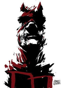 Daredevil by Mike Kevan<3 Matt Murdock A.K.A. Daredevil (dude... That's my last name!)