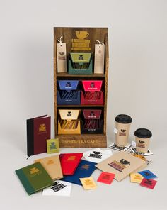 Novel Tea Cafe - Woody Harrington Design. I love this idea of different genres of literature being paired with different flavors of tea.