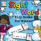 This winter-themed set of 52 sight word flip books is just right for beginning readers.  It covers both the pre-primer and primer Dolch sight word lists, as well as a few more.  That's over 100 sight words!  Each flip book requires students to read the sight word sentence 5 times. $