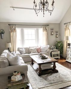 ✔ chic farmhouse living room design and decoration ideas you should know about 52 Living Room Table Sets, Cute Living Room, Living Room Furniture, Living Room Decor, Ikea Linnmon, French Country Living Room, Family Room Design, Living Room Remodel, Apartment Living