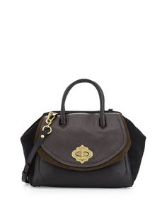 Mindy Leather and Suede Satchel, Mahogany/Multi by Oryany at Neiman Marcus Last Call.