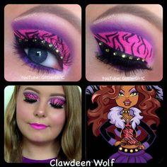 Monster High Clawdeen Wolf Makeup Look