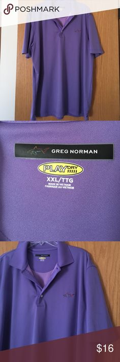 Greg Norman men's XXL polo Handsome purple polo in lightweight fabric. Excellent condition! Greg Norman Shirts Polos