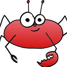 Cute Red Crab Doodle by Nalinne Jones. Looks so cute on a onesie!
