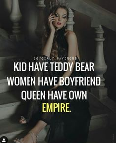 $YEDA QUEEN Attitude Quotes For Girls, Girl Attitude, Quotes Girls, Attitude Status, Famous Motivational Quotes, Inspirational Quotes About Love, Feminine Quotes, Girly Quotes, Home Quotes And Sayings
