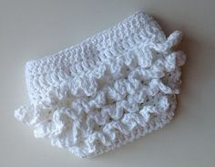 Crochet Pattern for Ruffle Bum Baby Diaper by crochetbyjennifer