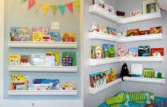 Uma boa maneira de incentivar as crianças pelo gosto da literatura é criar uma pequena biblioteca infantil em casa! Confira algumas ideias e decorações.