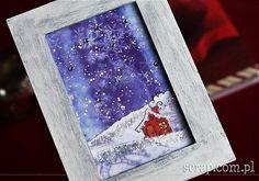 Zimowy obrazek Scrapbook, Cards, Scrapbooking, Maps, Playing Cards, Guest Books, Scrapbooks