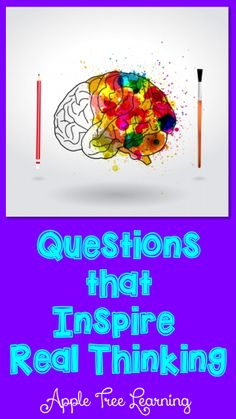 Questions that will inspire REAL thinking in your students. #metacognition #thinking #reading&strategies #literacy  #comprehension  #reading