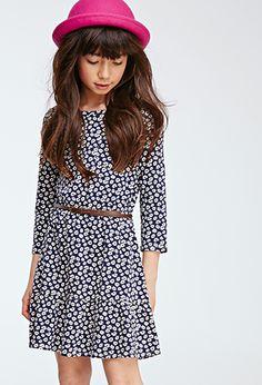 Ruffle-Hem Daisy Print Dress (Kids) | FOREVER21 girls | #f21kids