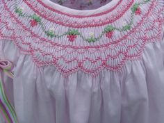 example of strawberry in smocked dress