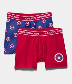 Boys' Under Armour® Alter Ego Captain America Boxerjock® 2-Pack | Under Armour US