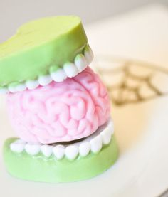Zombie Soap Gift Set Fingers teeth & Brain by AubreyEApothecary