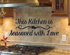Kitchen Vinyl Wall Decal- Kitchen the Heart of the Home- Lettering Decor Sticky Kitchen Decor, Vinyl, Kitchen Decals, Vinyl Colors, Stand Alone Kitchen Pantry, Home Decor Decals, Kitchen Vinyl, Vinyl Wall Decals Kitchen, Wall