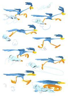Bird Drawings, Cartoon Drawings, Road Runner Bird, Runner Tattoo, Phoenix Artwork, Looney Tunes Wallpaper, Cartoon Caracters, Doodle Wall, Racing Stickers