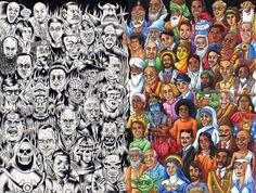 "Chris Dyer-"" the congress of evil and the wise"" Arte Punk, Acid Art, Visionary Art, Dark Fantasy Art, Painting & Drawing, Cool Art, Graffiti, Street Art, Art Pieces"