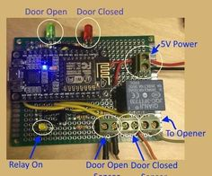 Garage Door Monitor This IoT project is designed to create a useful device and also a framework for other devices. Does your family ever leave the garage door o. Esp8266 Arduino, Arduino Wifi, Cool Electronics, Electronics Projects, Computer Projects, Garage Door Opener, Garage Doors, Esp8266 Projects, Pegboard Garage