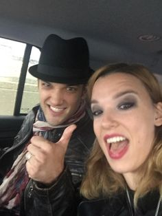 Arejay and Lzzy Hale of Halestorm