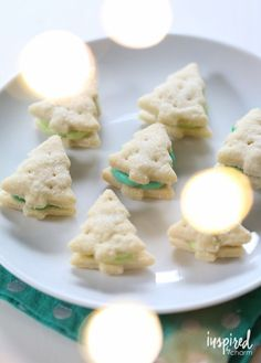Cream Wafer Tree Cookies - a favorite holiday cookie recipe. Christmas Sweets, Christmas Goodies, Christmas Baking, Christmas Decorations, Xmas, Christmas Time, Christmas Crafts, Tree Cookies, Wafer Cookies