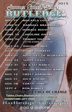 2015 Summer Concert Series - Rutledge (Morgan County) Georgia
