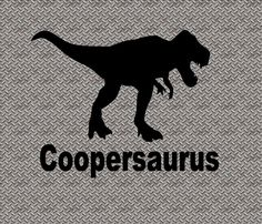 Name Dinosaur Vinyl Decal Birthday Decal Dinosaur by CoddsCloset