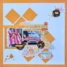 Summer Fun - My Creative Scrapbook Main Kit June 2014 with Echo Park 'Summer Bliss' col