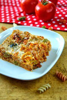 Mindennapi ételeink: Csőben sült paradicsomos-cukkinis fusilli Lasagna, Vegetarian, Vegan, Dishes, Ethnic Recipes, Foods, Food Food, Food Items, Tablewares