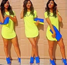 This outfit is adorbs! Probably wouldn't look nearly as good on me, but still. Fashion Killa, Look Fashion, Fashion Outfits, Womens Fashion, Fashion Clothes, Ropa Color Neon, Winter Typ, Summer Outfits, Casual Outfits