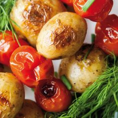 Bunte Kartoffelspieße